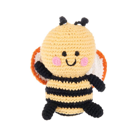Friendly Bumble Bee Rattle - tinybirdstinybees