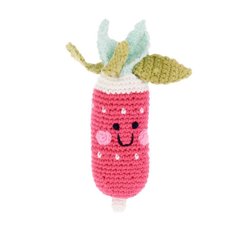 Friendly Radish Rattle - tinybirdstinybees