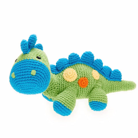 Blue & Green Dino Rattle
