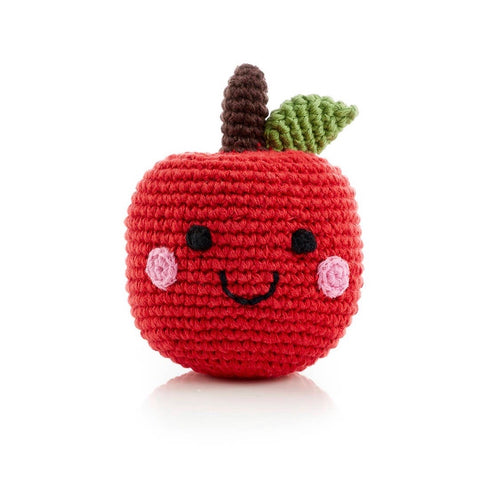 Friendly Apple Rattle - tinybirdstinybees