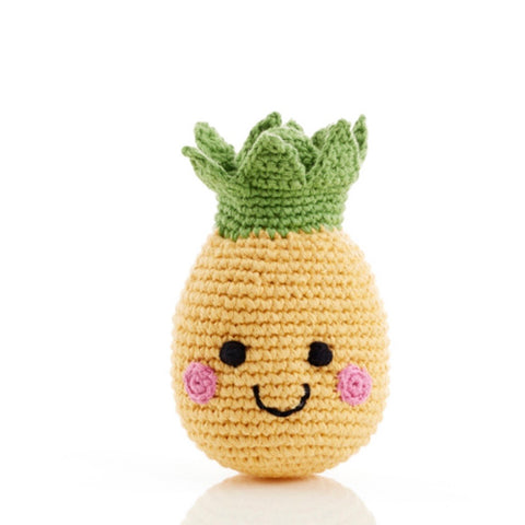 Friendly Pineapple Rattle - tinybirdstinybees