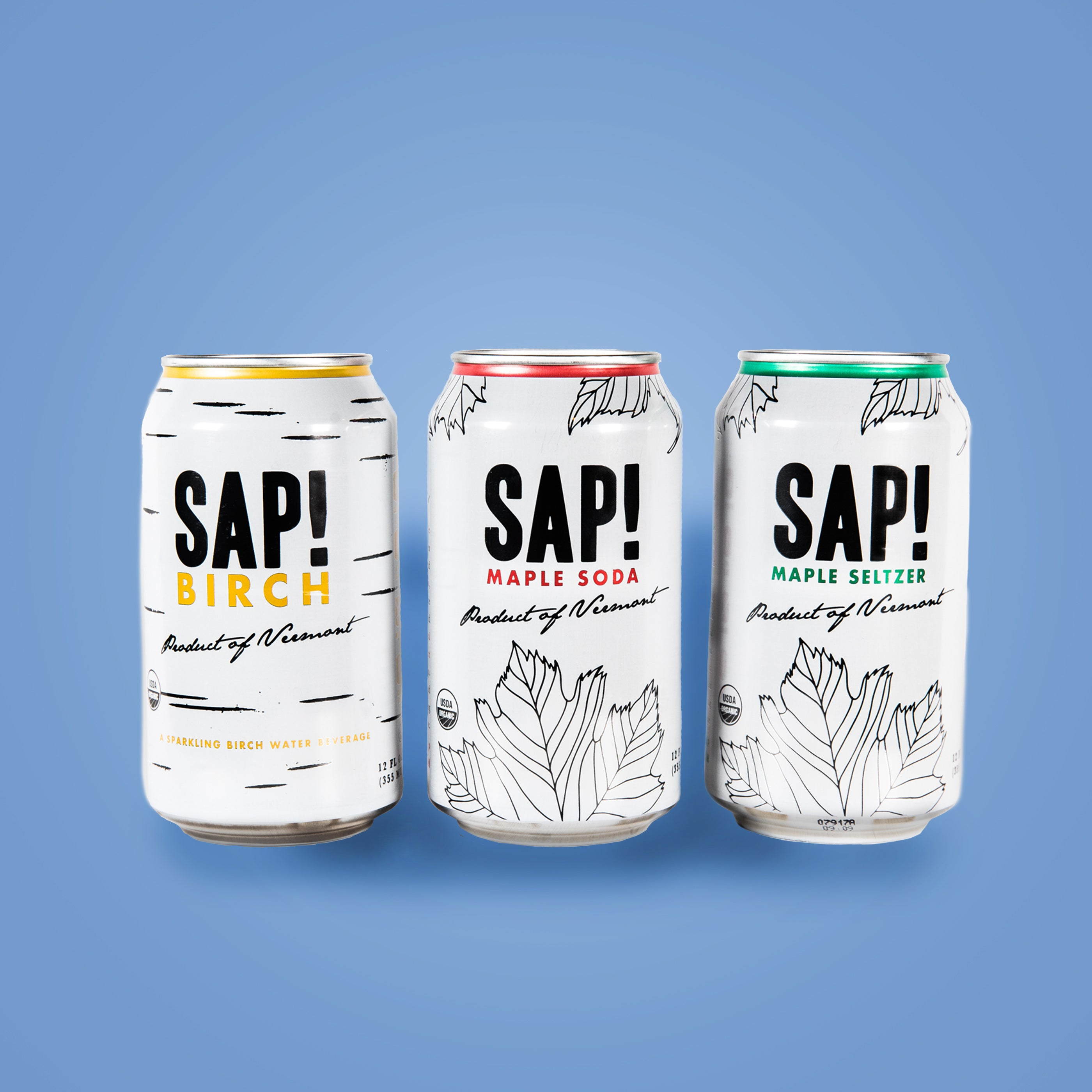 ORIGINAL SAMPLER - Mixed 12-Pack (Sap! Maple Soda, Maple Seltzer, Birch Sparkling)