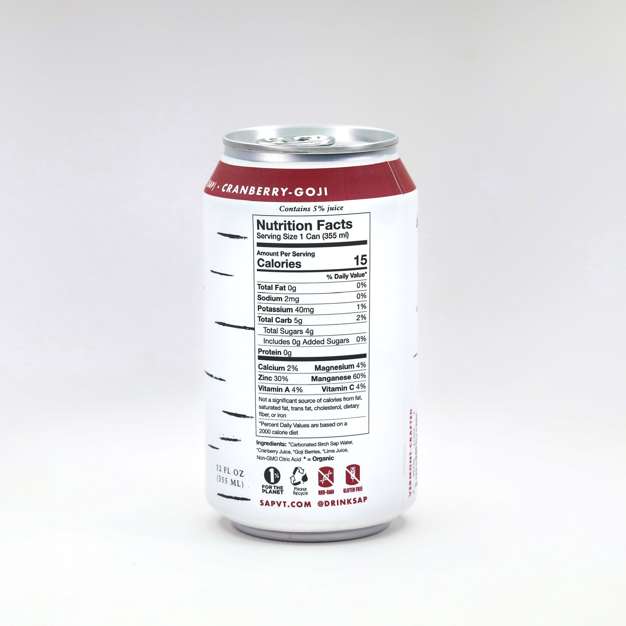 Sap! Cranberry-Goji Berry Sparkling Water Case of 12