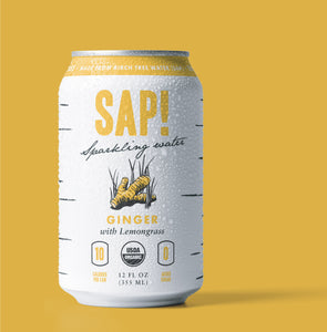 Sap! Ginger-Lemongrass Sparkling Water