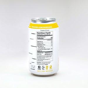 Sap! Ginger-Lemongrass Sparkling Water Case of 12