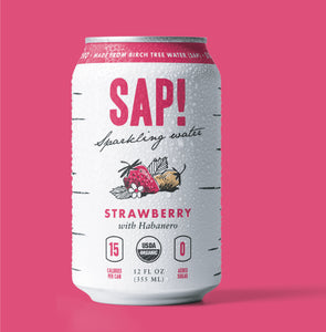 Sap! Strawberry-Habanero Sparkling Water Case of 12