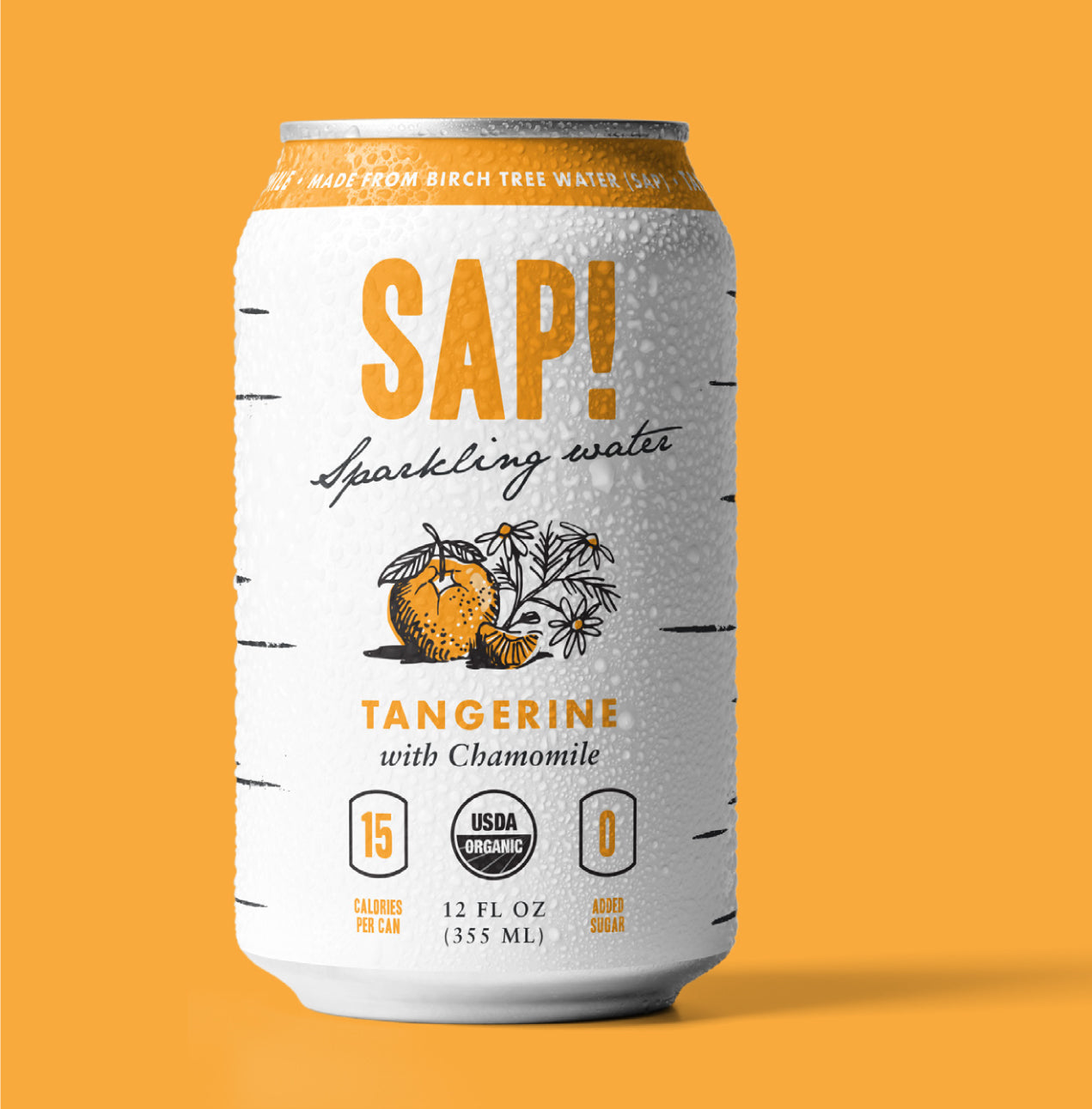 Sap! Tangerine-Chamomile Sparkling Water Case of 12