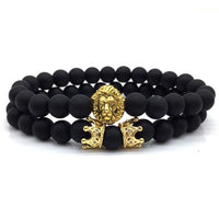 BRACELET LION MATTE GOLD - Time Pieces & Co.
