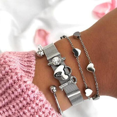 BRACELET LOVE ARGENT - Time Pieces & Co.