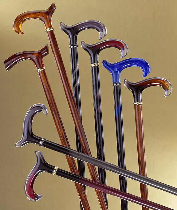 Colorful Acrylic Handle Derby Canes