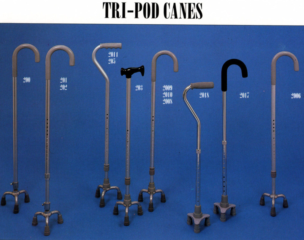 Tripod Canes, Adjustable