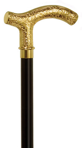 Firenze 18K Gold Plate over Nickel Fritz Walking Stick 36