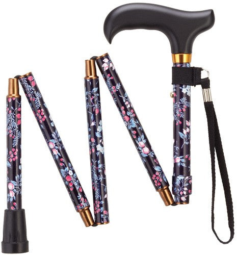 Mini Folding Adjustable Derby Cane 32-36