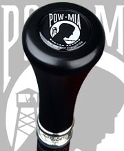 POW-MIA Flat Top Walking Stick