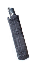 Mini Folding Umbrella Black/Charcoal Plaid