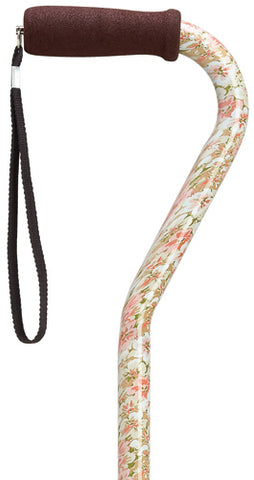 Floral Offset Adjustable Cane 30-39