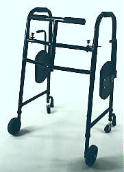 EasyRise Universal 4-Wheeled Double Button Folding Walker