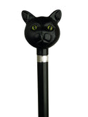 CATATUDE Black Cat on Black Hardwood shaft w/silver collar, 36