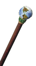 The World in the Palm of Your Hand Walking Cane 36