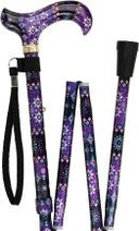 PRETTY PURPLE Derby Adjustable Folding Cane 33-37