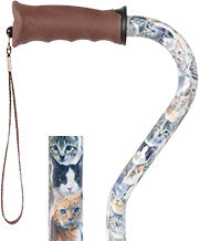 CATS Adjustable Offset Walking Cane w/ Comfort Gel Grip 31-39