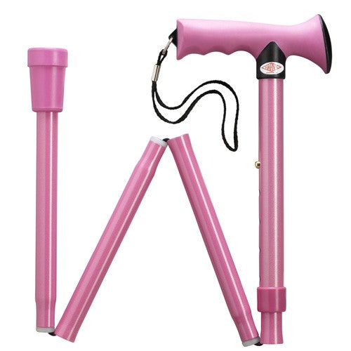 ERGONOMIC SOFT TOUCH FOLDING ADJUSTABLE CANE