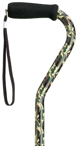 Camoflage 'Camo' Offset Adjustable Cane, 31-40
