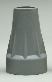 Replacement Crutch Tips - Large Crutch Tips, Pair, Grey (3/4-7/8