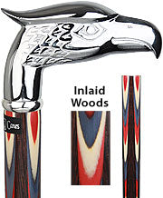 Silver Plated Eagle, Wenge shaft, 'Colors Don't Run', 37