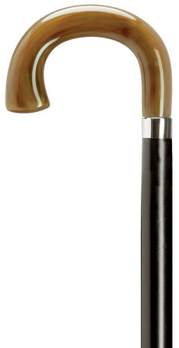 Horn Crook with Square Nose, black wood shaft 36