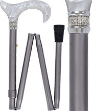 Platinum Pearlz Derby Adjustable Folding Cane