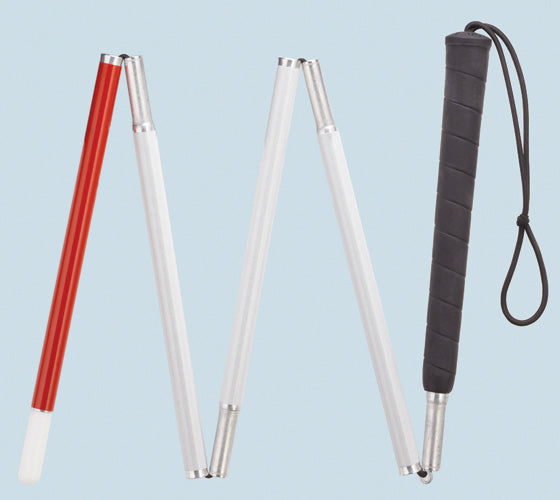 Five Section Folding Blind Cane, 44