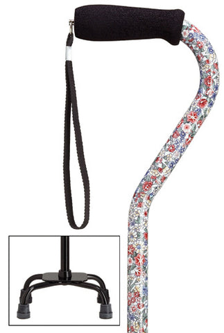 Wildflowers Quad Cane, small base, 30-39