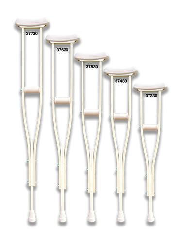 Youth Child Underarm Adjustable Wood Crutches, for 4'3