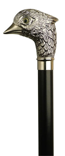 Silver Bird Pheasant Golf Head Walking Stick 36