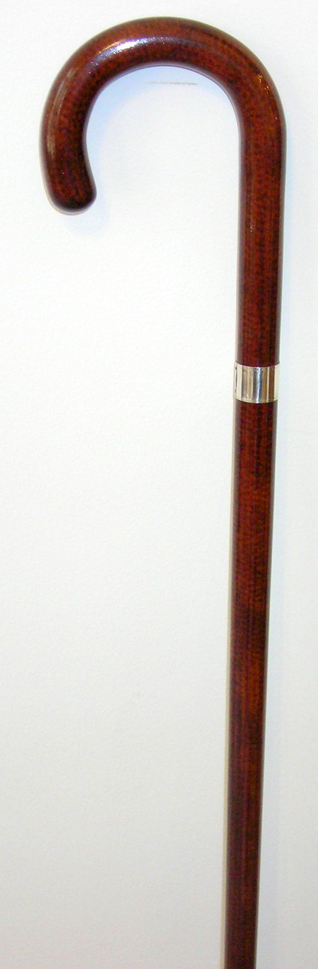 Ladies French High Gloss Snakewood Crook, Sterl Silver Band 36