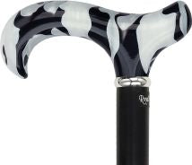 Black Onyx Acrylic Derby, hardwood shaft 37