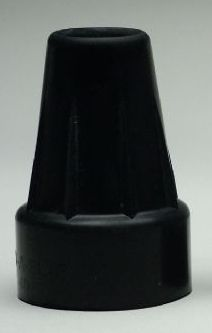 Large Crutch Tips, Pair, Black (3/4-7/8