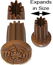 Ingrid Ultimate Expanding Tip Brown 3 Sizes