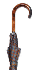 GREY/BROWN/GOLD TARTAN TIGER MAPLE CROOK UMBRELLA 37.5