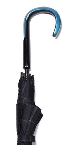 Sculpted Crook Handle Umbrella in Red or Blue