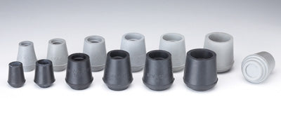 Round Bottom Tips in Grey Pair 6 Size Options