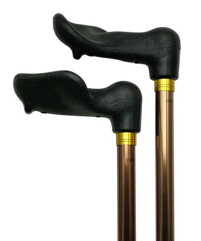 Palm Grip Fischer  Adjustable Walking Cane | BRONZE 29'-37