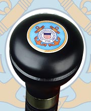 U.S. COAST GUARD KNOB TOP MILITARY FLASK STICK, 37