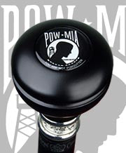 POW-MIA Flask Knob Walking Stick