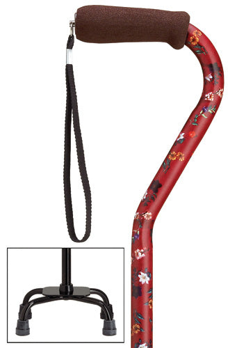 Fuschia Red Quad Cane, small base, 30-39