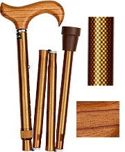 Rosewood Derby Folding and Adjustable Cane