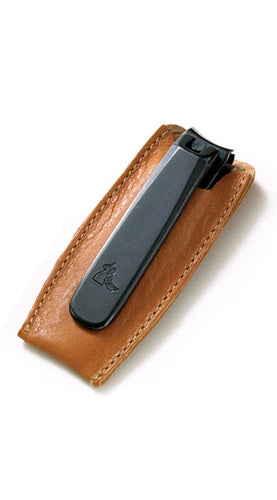 Executive Clipper with Tan Saddle Leather Case