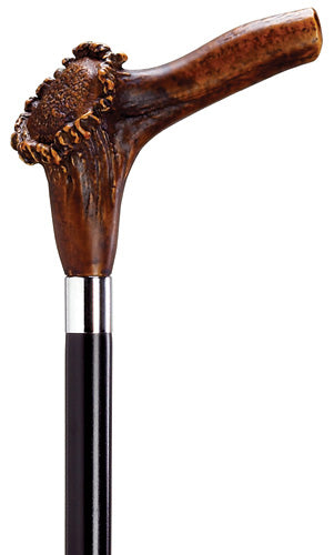Stag Horn Handle Walking Stick, NATURAL 36