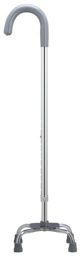 EXTRA TALL CROOK handle Quad Cane, small base, 38-45